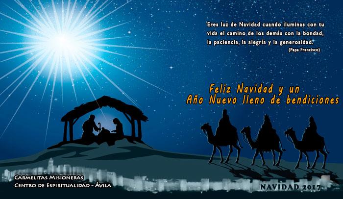 Os deseamos una Navidad de paz, de alegría, de esperanza.