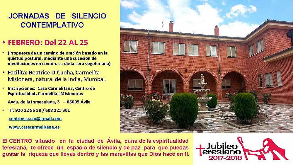 Jornada de Silencio Contemplativo-Centro de espiritualidad en Ávila