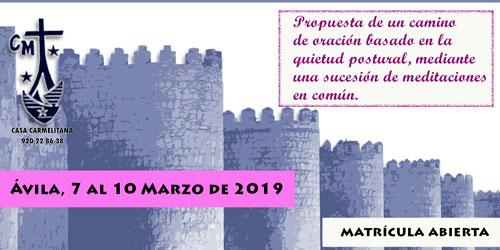 Jornadas de Silencio Contemplativo, marzo-2019